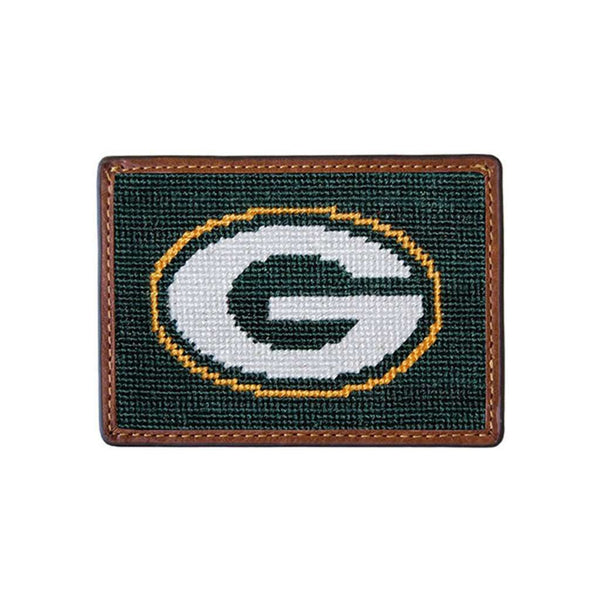Green Bay Packers Needlepoint Credit Card Wallet by Smathers & Branson