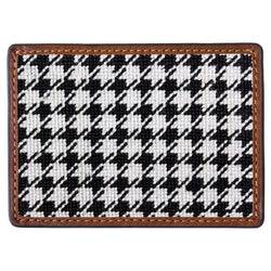 Houndstooth Needlepoint Credit Card Wallet by Smathers & Branson