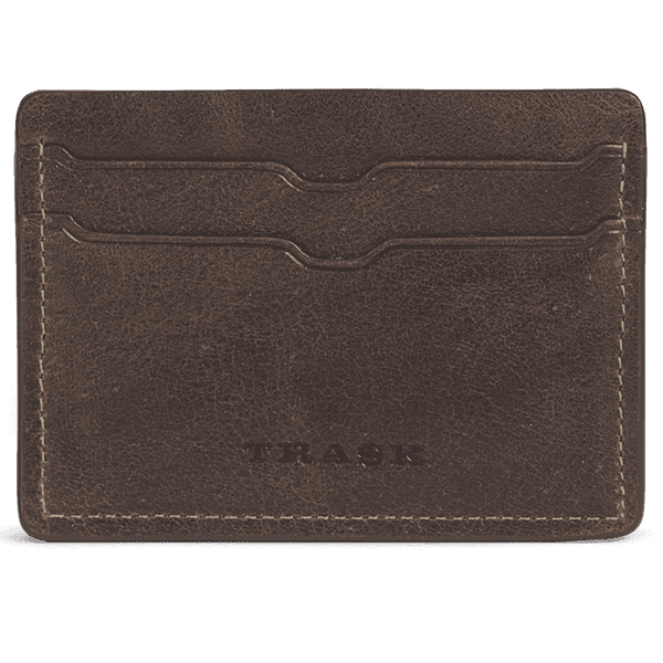 Jackson Weekender Card Wallet in Walnut American Steer by Trask