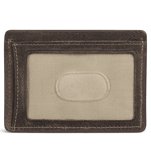 Card Wallets - Jackson Weekender Card Wallet In Walnut American Steer By Trask