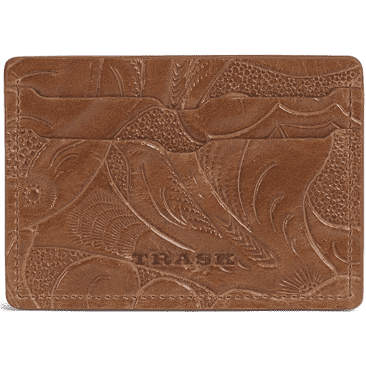 Jackson Weekender Wallet in Tan Tooled Italian Steer by Trask