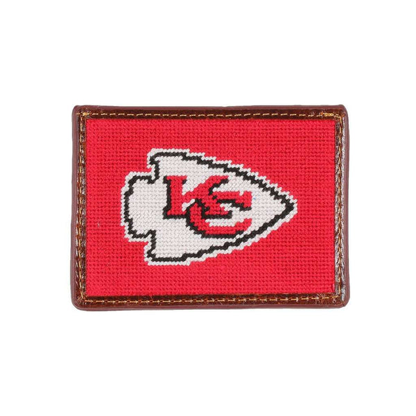 Card Wallets - Kansas City Chiefs Needlepoint Credit Card Wallet By Smathers & Branson