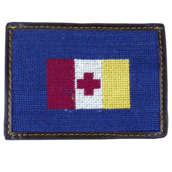 Card Wallets - Kappa Alpha Order Needlepoint Credit Card Wallet In Blue By Smathers & Branson