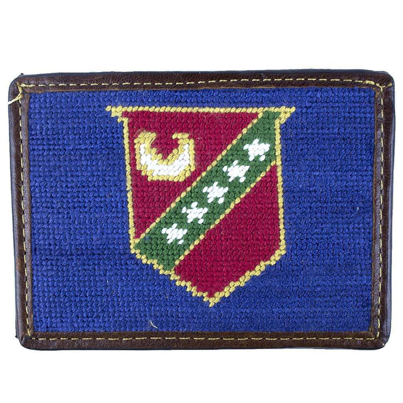 Kappa Sigma Needlepoint Credit Card Wallet in Blue by Smathers & Branson