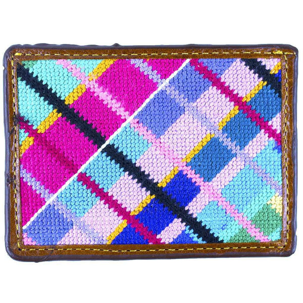 Limited Edition Longshanks Madras Needlepoint Credit Card Wallet by Smathers & Branson