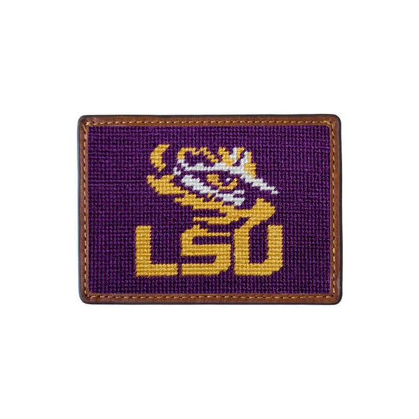 Card Wallets - Louisiana State University Needlepoint Credit Card Wallet By Smathers & Branson