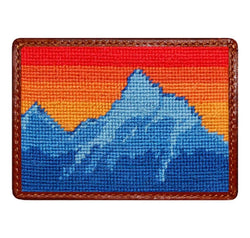Card Wallets - Mountain Sunset Credit Card Wallet In Multi By Smathers & Branson
