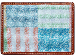 Card Wallets - Newport Patchwork Credit Card Wallet In Multicolor By Smathers & Branson