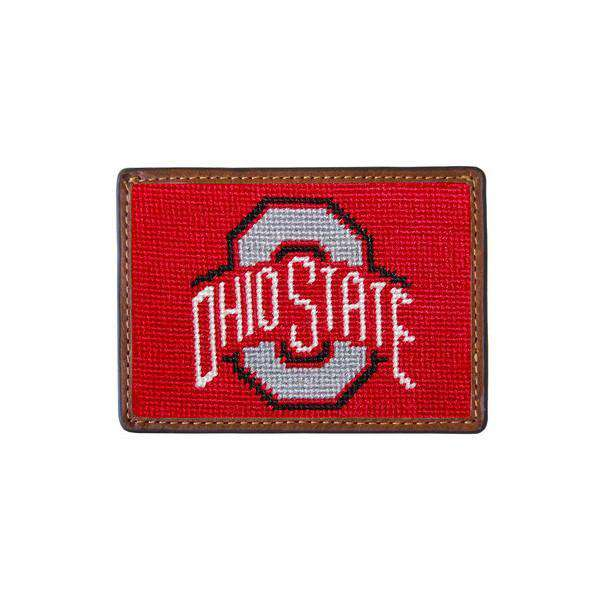 Ohio State University Needlepoint Credit Card Wallet in Red by Smathers & Branson
