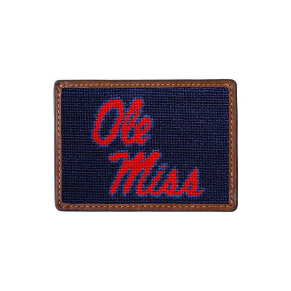 Card Wallets - Ole Miss Needlepoint Credit Card Wallet By Smathers & Branson