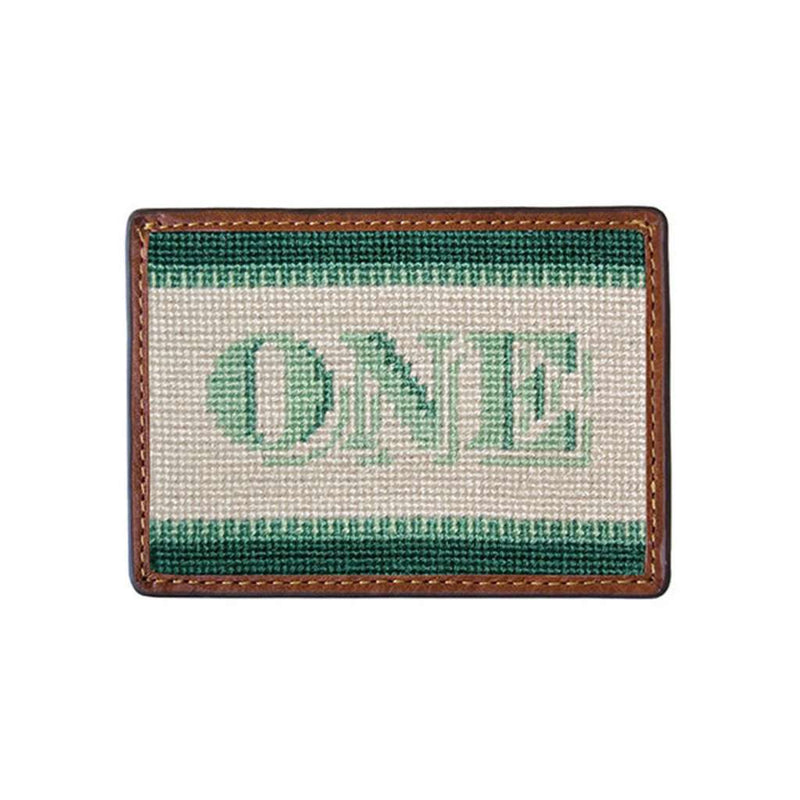 One Dollar Bill Needlepoint Credit Card Wallet by Smathers & Branson