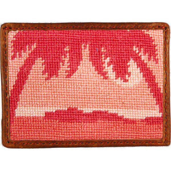Palm Tree Sunset Needlepoint Credit Card Wallet by Smathers & Branson