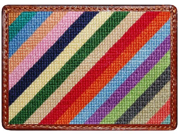 Parsons Stripe Credit Card Wallet in Multicolor by Smathers & Branson