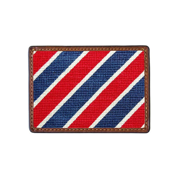 Patriotic Stripe Needlepoint Credit Card Wallet by Smathers & Branson