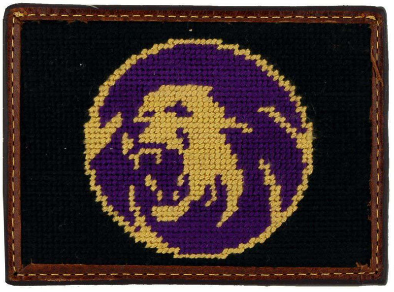 Sigma Alpha Epsilon Needlepoint Credit Card Wallet in Black by Smathers & Branson