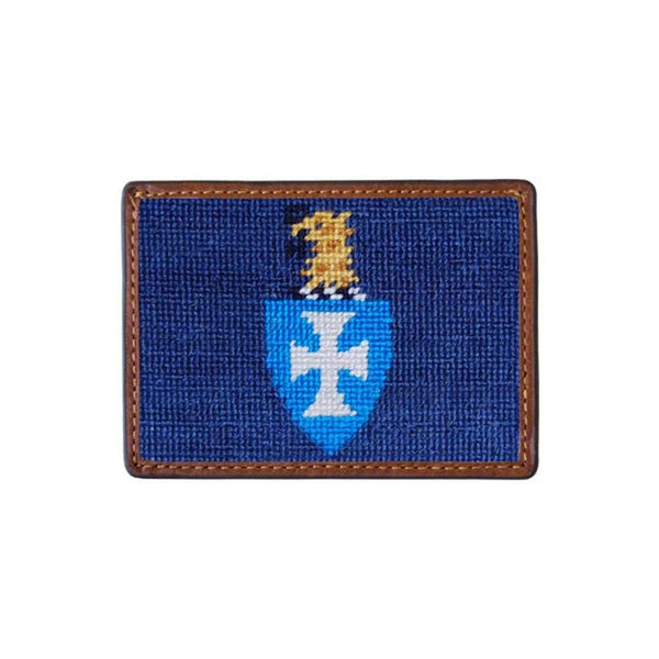 Sigma Chi Needlepoint Credit Card Wallet in Blue by Smathers & Branson