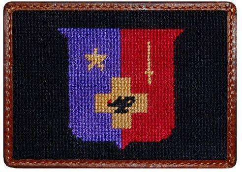 Sigma Phi Epsilon Needlepoint Credit Card Wallet in Black by Smathers & Branson