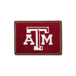 Texas A&M Needlepoint Credit Card Wallet by Smathers & Branson
