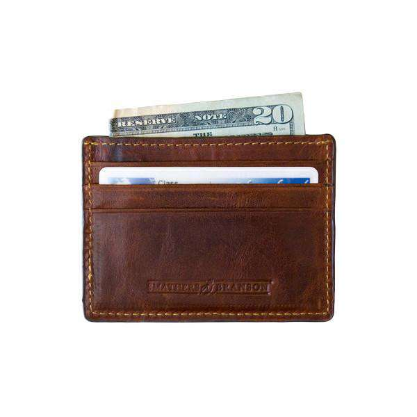 Trout Needlepoint Credit Card Wallet in Navy by Smathers & Branson