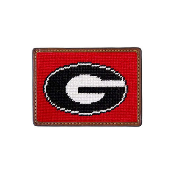 Card Wallets - University Of Georgia Needlepoint Credit Card Wallet By Smathers & Branson