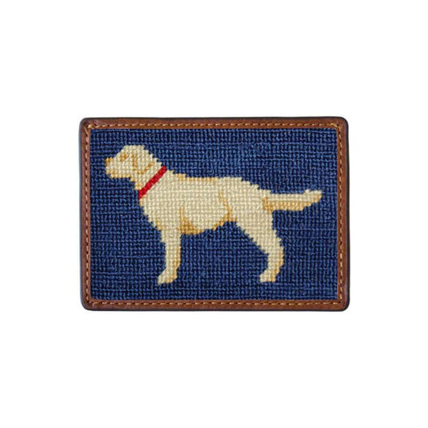 Yellow Lab Needlepoint Credit Card Wallet by Smathers & Branson
