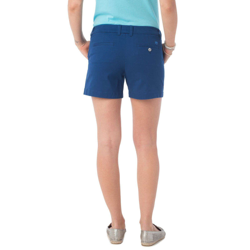 "5"" Caroline Short in Yacht Blue by Southern Tide  - 3"