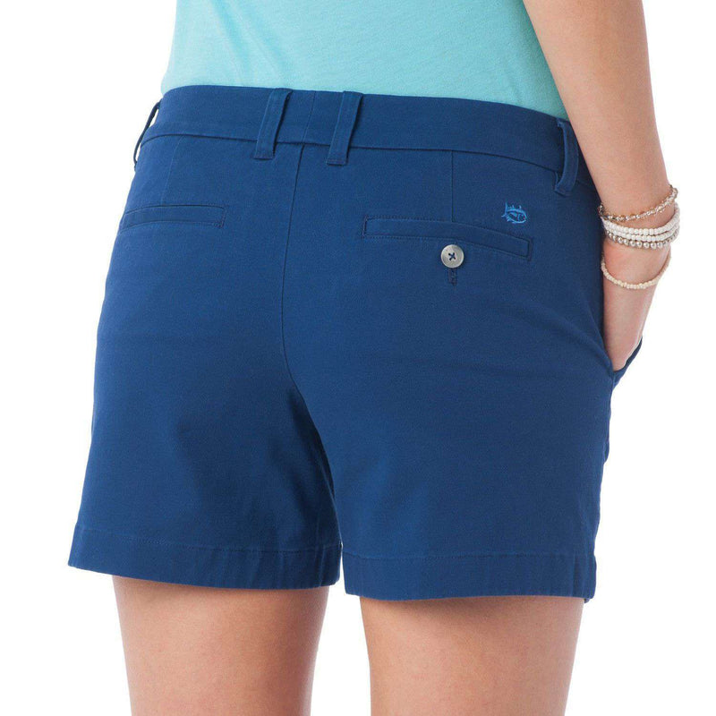 "5"" Caroline Short in Yacht Blue by Southern Tide  - 2"