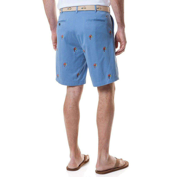 Cisco Short with Embroidered Party Parrot by Castaway Clothing - FINAL SALE