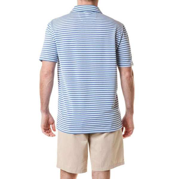 Salt Spray Polo in Navy Stripe by Castaway Clothing