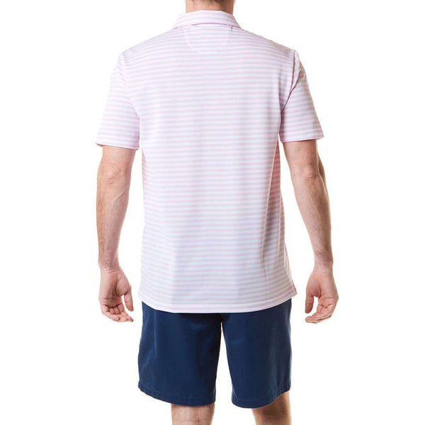 Salt Spray Polo in Pink Stripe by Castaway Clothing