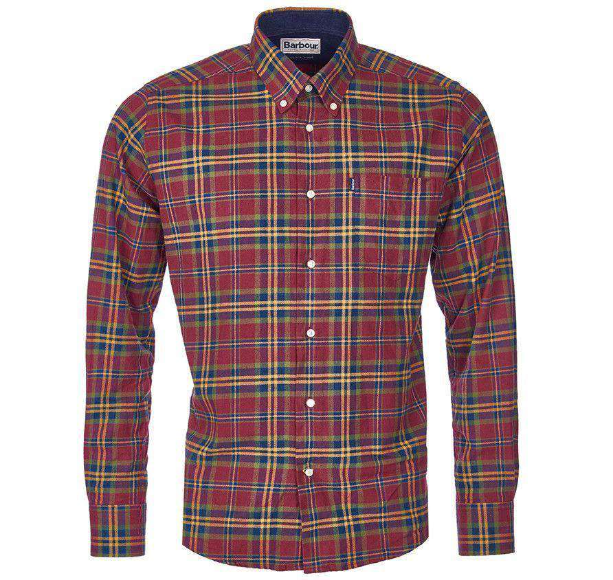 Castlebay Regular Fit Button Down in Crimson by Barbour  - 3