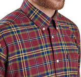 Castlebay Regular Fit Button Down in Crimson by Barbour  - 4