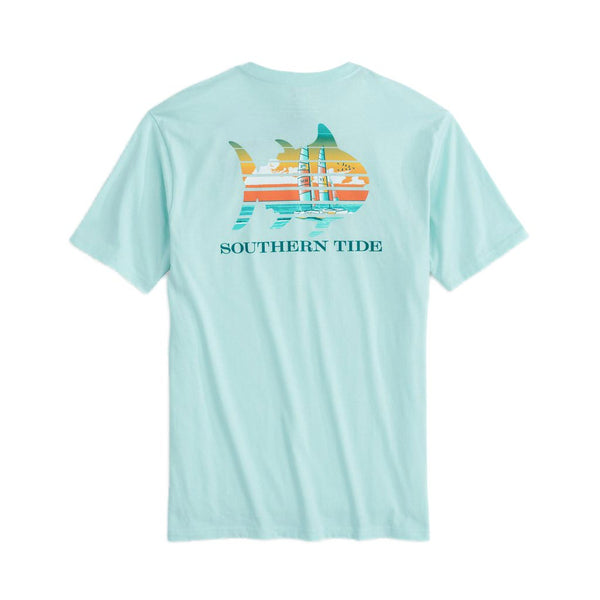 Catamaran Sunset Tee Shirt by Southern Tide