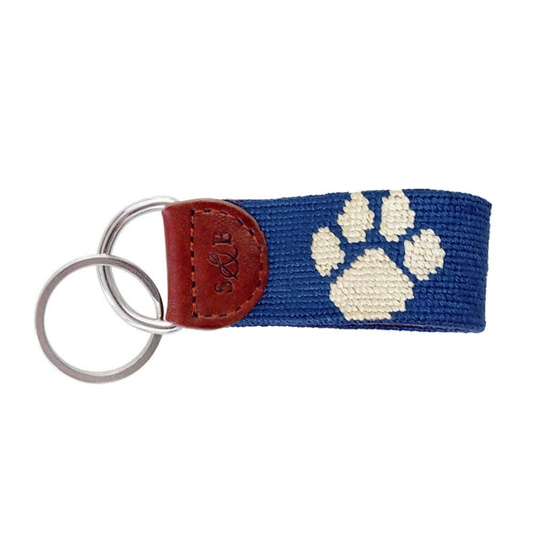 Kentucky Wildcat Paw Needlepoint Key Fob by Smathers & Branson