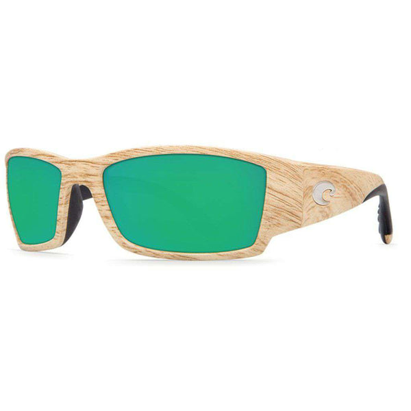 Corbina Sunglasses in Ashwood with Green Mirror Polarized Glass Lenses by Costa del Mar