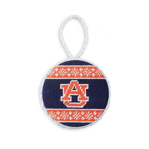 Smathers and Branson Auburn Fairisle Needlepoint Ornament by Smathers & Branson