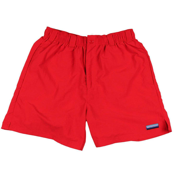 Chillaxer Shorts in Red by Waters Bluff  - 1