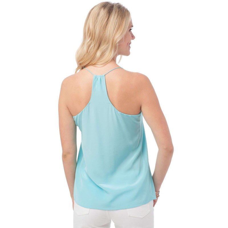 Chloe Silk Cami in Crystal Blue by Southern Tide - FINAL SALE