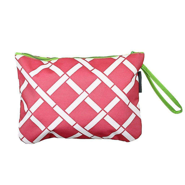 Clutches - Bamboo Bikini Bag In Pink And Lime By The Royal Standard