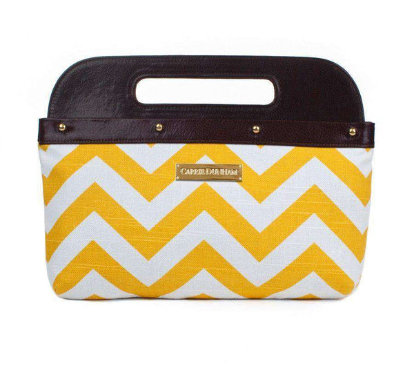 Chevron Clutch Cover in Yellow by Carrie Dunham