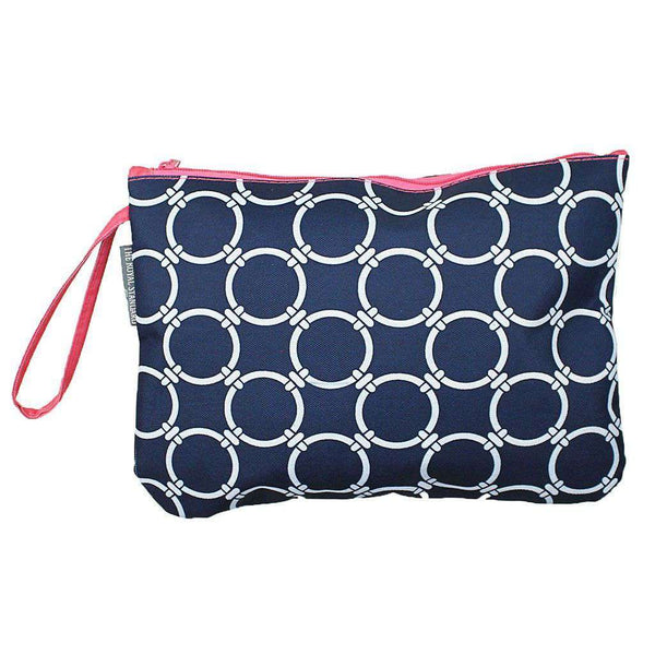 Clutches - Circle Link Bikini Bag In Navy And Pink By The Royal Standard