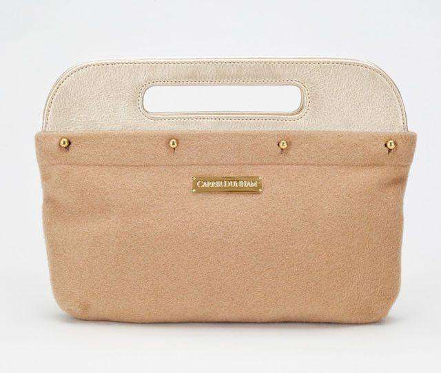 Clutches - Clutch Cover In Camel Wool By Carrie Dunham
