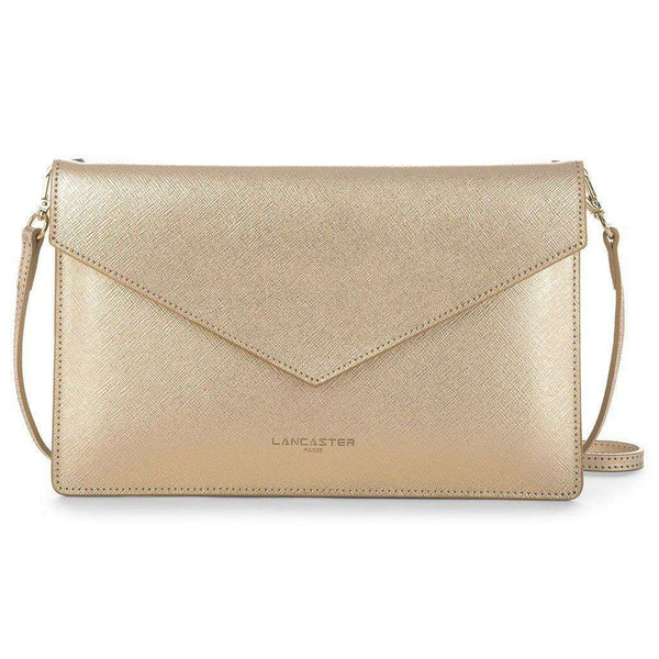 Crossbody Clutch in Gold by Lancaster Paris