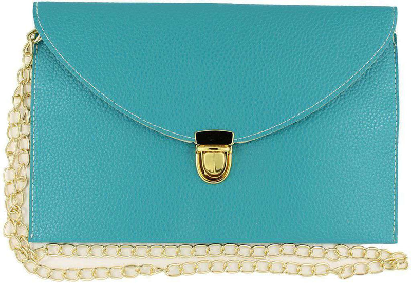 Clutches - Envelope Clutch In Turquoise By Pink Pineapple