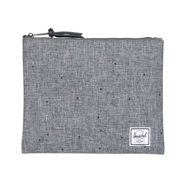 Large Network Pouch in Scattered Raven Crosshatch by Herschel Supply Co.
