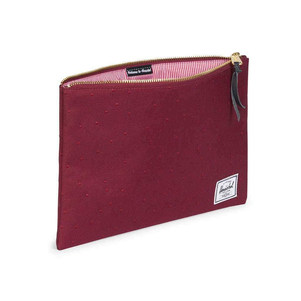 Clutches - Large Network Pouch In Windsor Wine With Polka Dots By Herschel Supply Co.