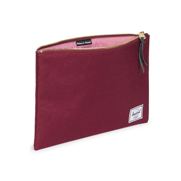 Large Network Pouch in Windsor Wine with Polka Dots by Herschel Supply Co.