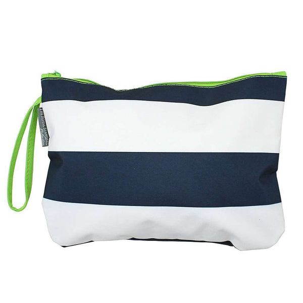 Preppy Stripe Bikini Bag in Navy/White/Lime by The Royal Standard