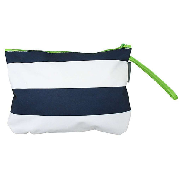 Clutches - Preppy Stripe Bikini Bag In Navy/White/Lime By The Royal Standard