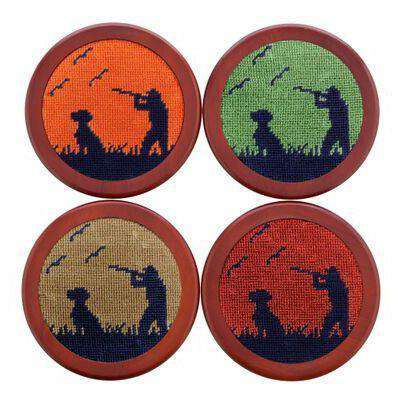 Bird Hunter Needlepoint Coasters by Smathers & Branson